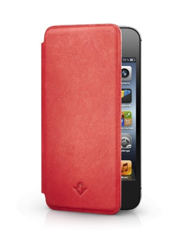 Pad for iPhone 4/4s, red   Ultra-slim luxury leather cover + display stand ()