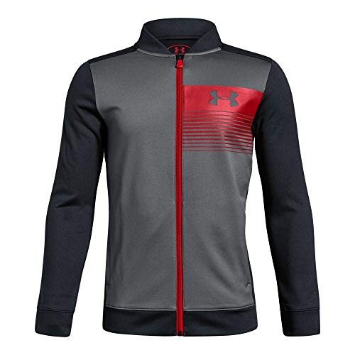 Under Armour Boys Novelty Pennant Jacket, Graphite (040)/Red, Youth Large