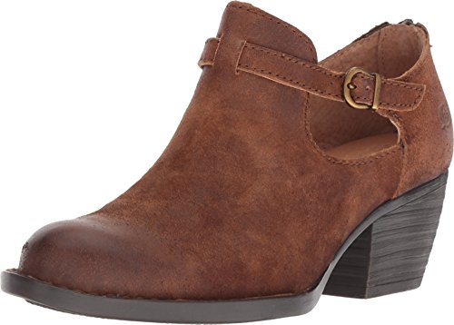 Born Mendocino Women's Rust (Tobacco) Distressed Leather Clog Shoes (8.5 B(M) US)