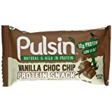 Pulsin Vanilla Choc Chip Protein Bar 50 g (Pack of 18)