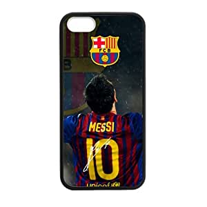 FC Barcelona Lionel Messi iPhone 5 5s Cell Phone Cases Cover Popular Gifts(Laster Technology)