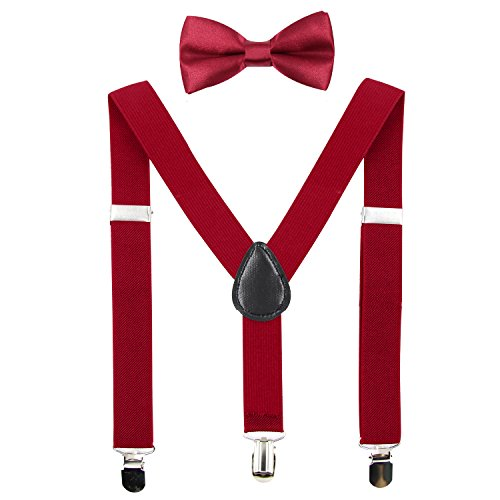 Hanerdun Kids Suspender Bowtie Sets Adjustable Suspender With Bow Ties Gift Idea For Boys And Girls