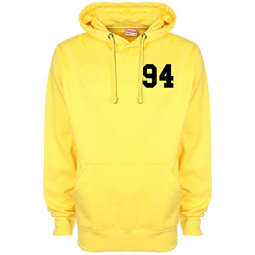 Ashton Irwin 5 Seconds Of Summer Date Of Birth Hoodie - Yellow - XX-Large (48-20 inches)