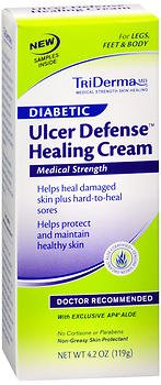 Price comparison product image TriDerma MD Diabetic Ulcer Defense Healing Cream - 4.2 oz, Pack of 2