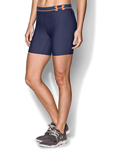 """Under Armour Women's HeatGear® Armour 5"""" Middy Small FADED INK"""