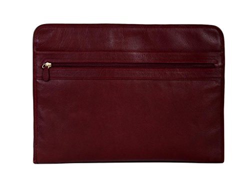 Scully Calf Leather 3 Way Zip Envelope File Business Case (Three Way Zip Case)