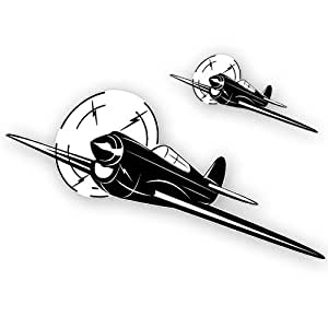 Vintage World War 2 Airplane Wall Decal Vinyl Aviation