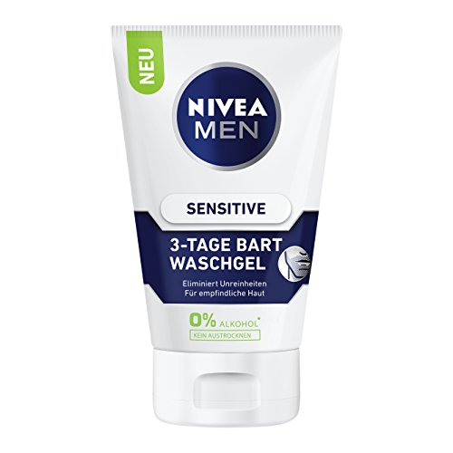 Nivea Men Sens 3 Tage Bart Waschgel, 2er Pack (2 x 100 ml)