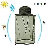 帽子 ネット 虫除け 蚊よけ 防虫ネット メッシュ カバー 携帯 頭部 蚊帳 紫外線対策 農作業 釣り ハイキング アウトドア
