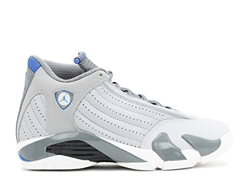 Nike Men's Air Jordan 14 Retro Sneakers Wolf Grey, Sprt Blue-cl Gry-wht