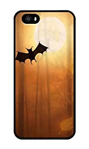 Custom Halloween Bats Crystal Clear Enamel Hard Back Cover Case for iPhone 4/4s