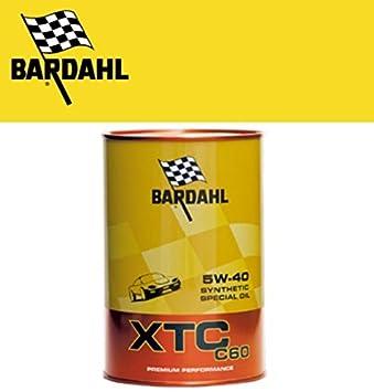 Bardahl 334040 Aceite 5W40 XTC C60 Polar Plus Fullereno para el cambio de aceite del coche 1 LITRO: Amazon.es: Coche y moto
