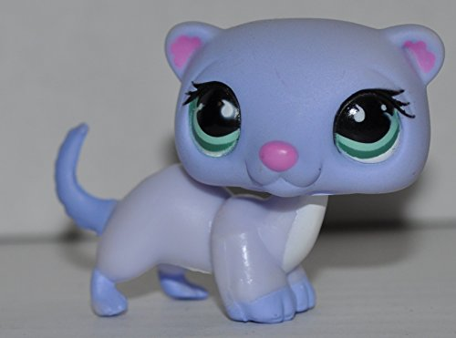 Ferret #880 (Purple) - Littlest Pet Shop (Retired) Collector Toy - LPS Collectible Replacement Single Figure - Loose (OOP Out of Package & Print)