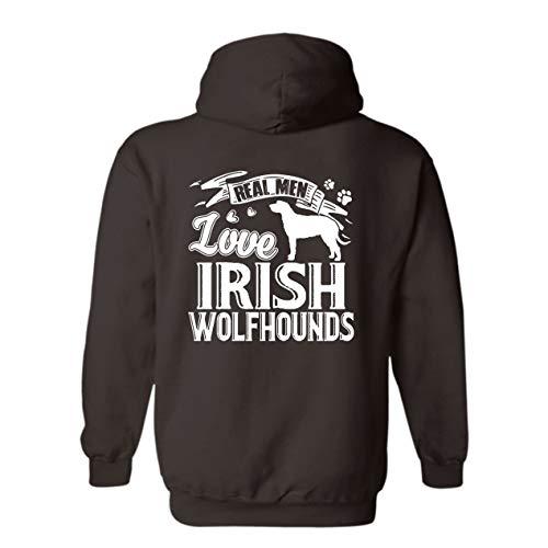Real Men Love Irish Wolfhounds Hoodie Sweatshirt, Hoodie, Long Hoodie Dark Chocolate,3XL