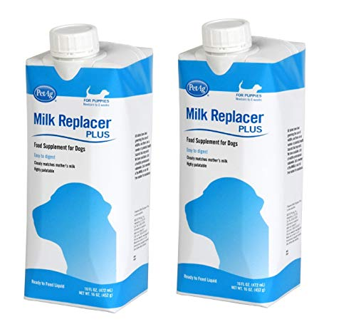 Milk Replacer Liquid for Puppies, 16 oz - Set of 2 Cartons