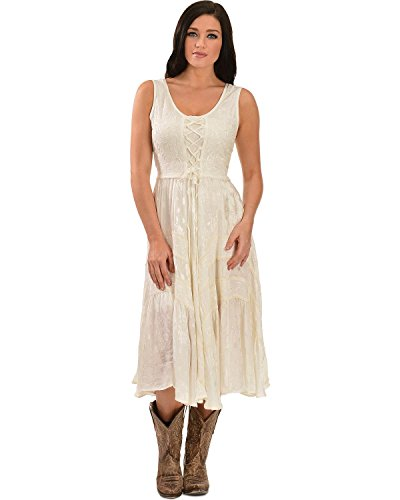 scully-womens-lace-up-jacquard-dress-ivory-x-large
