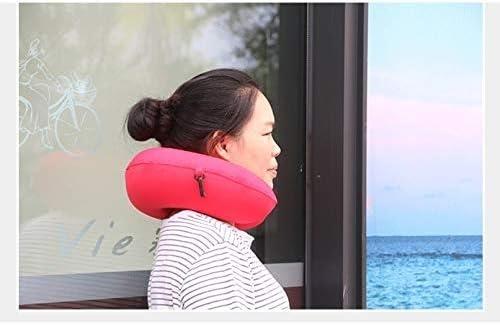 UXZSC Therapeutische Memory Foam Travel & Nackenkissen - abwaschbar Mikro-Faser Cover - Attachés zu Gepäck - Formen perfekt auf Ihren Hals und Kopf