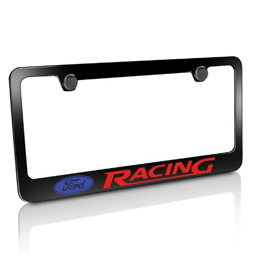 Ford Racing Black License Plate - Plate Racing License Plastic Frame