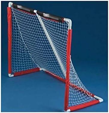 ホッケーGoalsChildrenのポータブル目標は、屋内フロアホッケーと膝ホッケーに最適です (Color : Red, サイズ : 138cm*117cm*61cm)