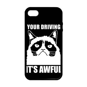 Grumpy Cat White Cat Black Background Case cover for iPhone 5 5s protective Durable black case