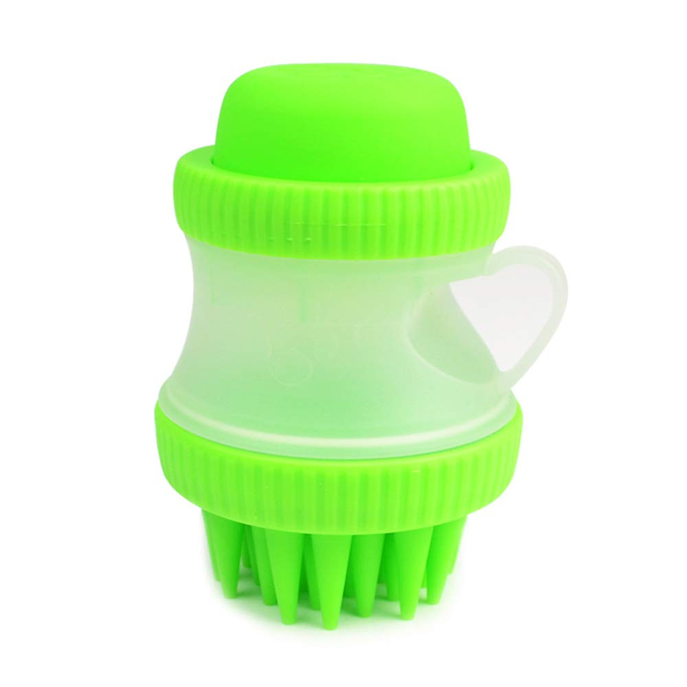 FQMAO 2 in 1 Pet Massage Bath Brush Silicone Cleaning Bath Brush Pet Supplies for Beauty Massage Decontamination,Green,2piece