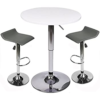 Amazon Com Elecwish Bar Table Set With Stools 24 Inches