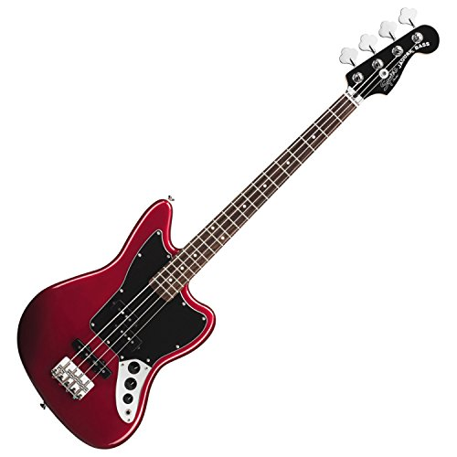 Squier by Fender Vintage SS Modified Special Jaguar Bass - Candy Apple Red - Electric Harp Guitar