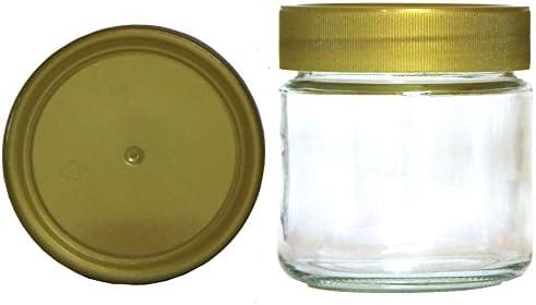 """60x Neutralglas 500 g /""""Honigglas/"""" mit goldenem Deckel Gläser für Honig"""