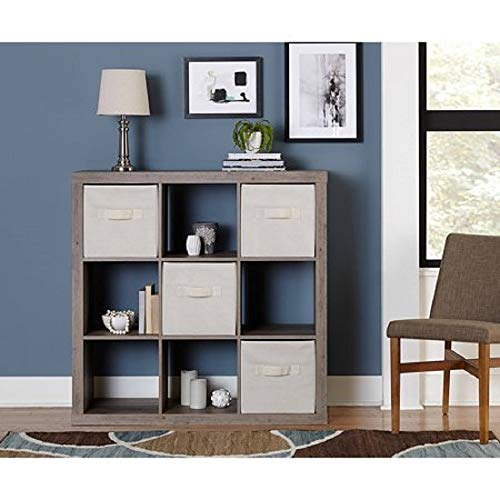Better Homes and Gardens.. Bookshelf Square Storage Cabinet 4-Cube Organizer (Weathered) (White, 4-Cube) (Rustic Gray, 9-Cube)