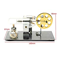 Yunt Mini Low Temperature Stirling Engine Heat Model Hot Air Steam Powered Education Toys Kit