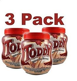 TODDY. 3 Pack of 200 gr each. Chocolate drink mix. With Venezuelan flavor. (Toddy Drink)
