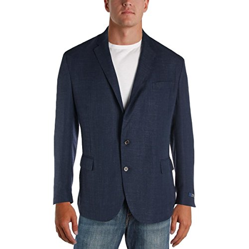 ns Morgan Wool Blend Woven Sportcoat Navy 46R ()