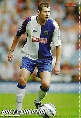 9801c4c93 Image Unavailable. Image not available for. Colour  MATCH football magazine  Blackburn Rovers BRETT EMERTON Lonsdale home kit picture