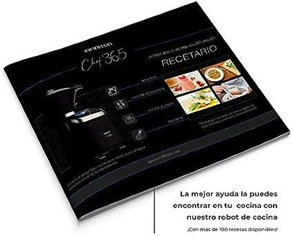 Robot DE Cocina MULTIFUNCION INFINITON Chef 365 (Temperatura hasta 120ºC, Capacidad 3 litros, 12 Velocidades, Vaporera, Incluye Recetario, 1500W): Amazon.es: Hogar