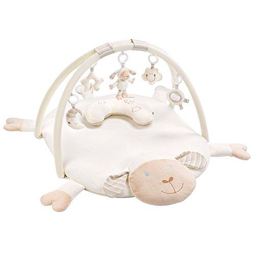 Fehn 154580 3-D-Activity-Deken, Schaap Speelboog, Met 5 Afneembare Speelgoed Voor Baby's, Wit, 90 x 75 x 45 cm