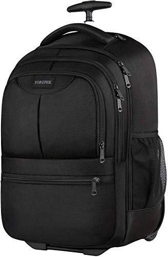 Rolling Backpack, 17 Inch Large Roller Backpack for