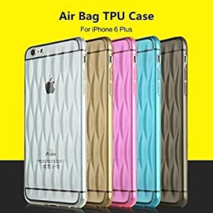 PG Baseus? Air Bag Series 0.1MM Soft TPU Case With Dustproof Plugs Phone Back Cover Case Protective Skin for iPhone 6 Plus(Transparent)