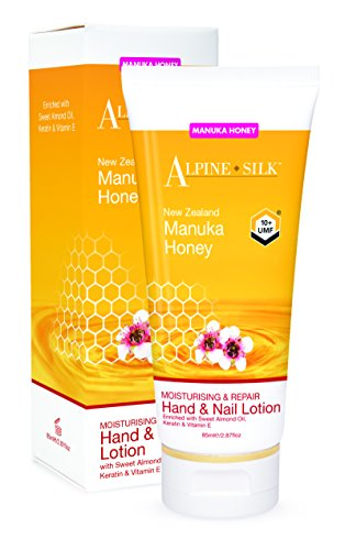 Moisturising & Repair Hand & Nail Lotion 85ml Enriched with Sweet Almond Oil, Keratin, & Vitamin (Alpine Oil)