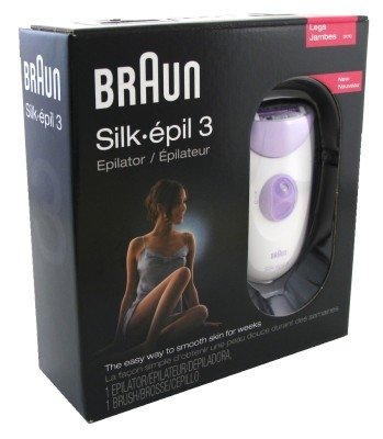 Braun Series 3-3170 Easy Hair Removal Silk Epil Epilator, Purple, 1 Ea (Braun Series 3 3170 Silk Epil Epilator)