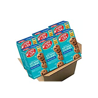 Enjoy Life Soft Baked Cookies, Soy free, Nut free, Gluten free, Dairy free, Non GMO, Vegan, Chocolate Chip, 6 Boxes