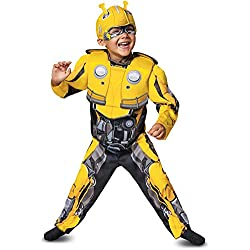 Disguise Bumblebee Toddler Muscle Child Costume, Yellow, Medium/(3T-4T)