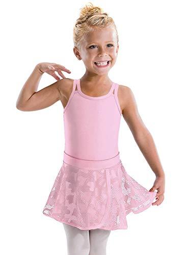 Motionwear Hugs & Jitterbugs Pink Pull On Bound Edge Wrap Skirt 1031 (LC (12-14)) ()