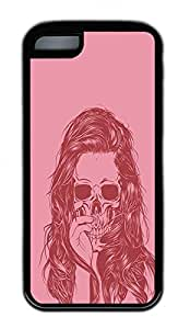 Beautiful Girl Skeleton Lovely Mobile Phone Protection Shell For iPhone 5c Cases - Unique Cool Black Soft Edge Case