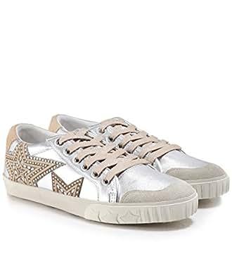 Ash Footwear Zapatos Magic Zapatillas de Cuero Palteado y Beige Mujer: Amazon.es: Zapatos y complementos
