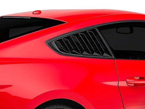 - SpeedForm Vintage Quarter Window Louver - Gloss Black - for Ford Mustang Fastback 2015-2019