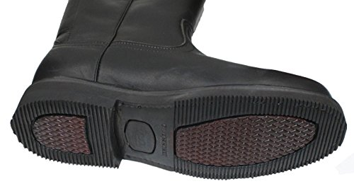 Dona Michi Men's Work Boots Pull On Leather Oil Water Slip Resistant Black 8.5 by Dona Michi (Image #1)