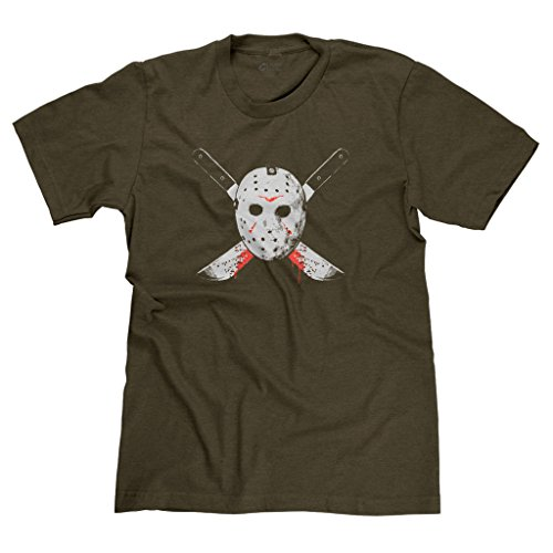 - FreshRags Jason Voorhees Friday the 13th Horror Fan Men's T-shirt 4X Htr. Brown 417