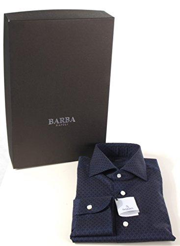 Barba Napoli Herren Freizeit-Hemd blau blau