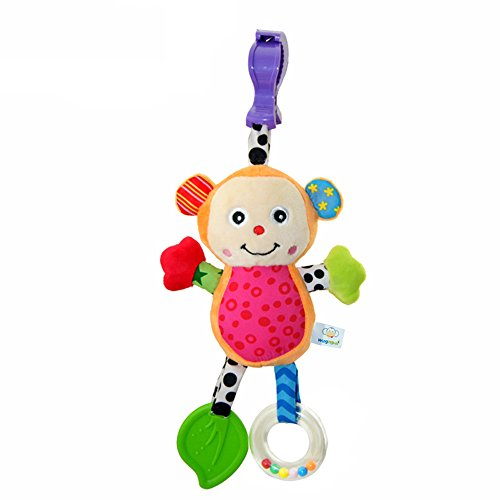All-in-1 Wingingkids Baby Toy with Rattle Bell Teether Funny Monkey for Early Education and Development