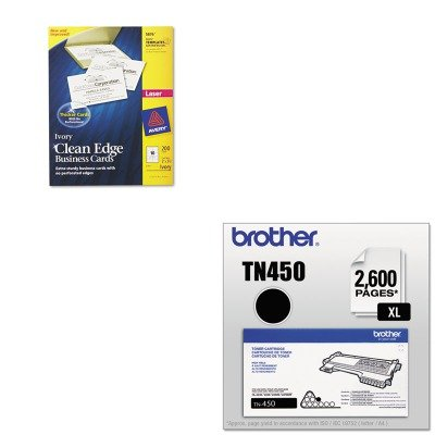KITAVE5876BRTTN450 - Value Kit - Avery Two-Side Printable Clean Edge Business Cards (AVE5876) and Brother TN450 TN-450 High-Yield Toner (BRTTN450)